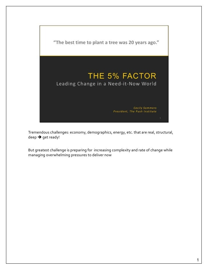 The 5% Factor_presentation w/ notes