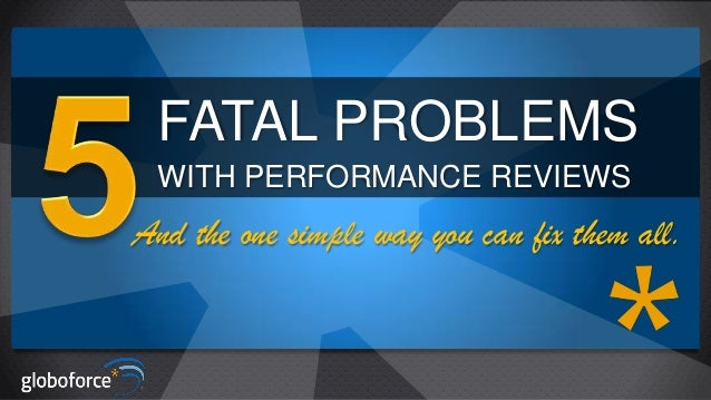 5 fatal problems with performance reviews