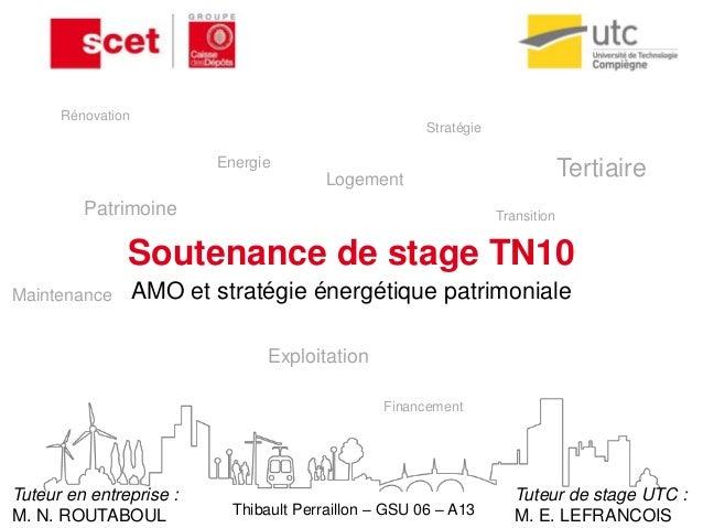 Soutenance de stage TN10 AMO et stratégie énergétique patrimoniale Patrimoine Transition Maintenance Logement Tertiaire Ex...