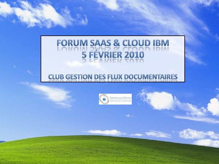 Un modèle organisationnel : Le Club Gestion des flux   Entrer dans un Club Métier                                         ...