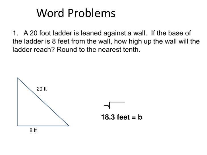 Pythagorean Theorem Word Problem Worksheets Davezan – Math Pythagorean Theorem Word Problems Worksheets