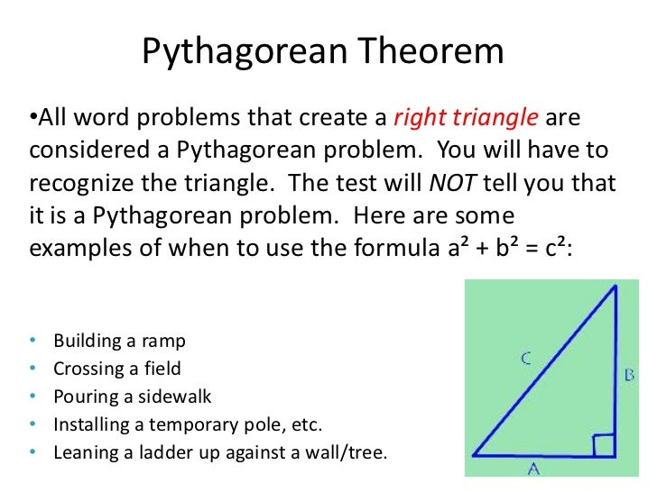 Pythagorean Theorem Word Problems Worksheet Worksheets