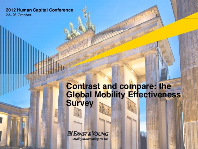 2012 Human Capital Conference23–26 October                          Contrast and compare: the                          Gl ...