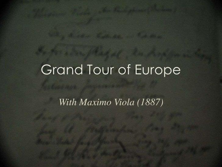 5 grand tour of europe