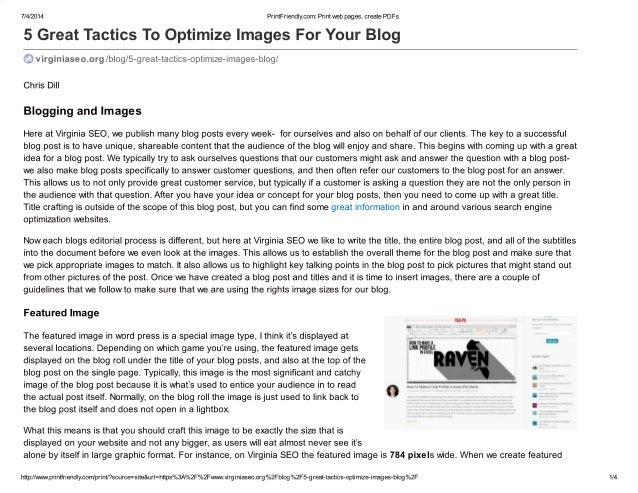 5 great tactics to optimize images for your blog