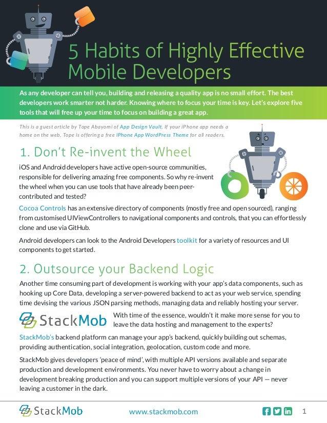 Mobile Developer Tip Sheet