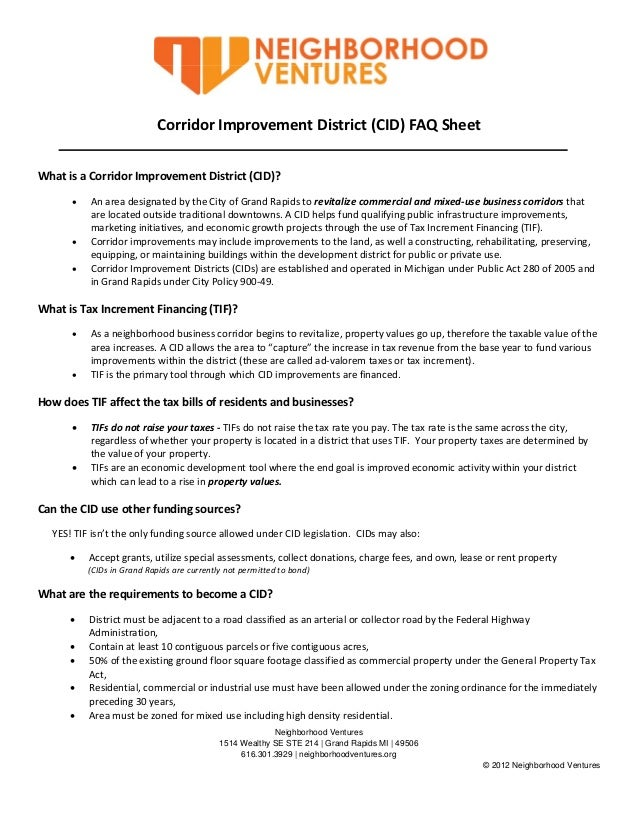 Breakout 5 Handout: CID Frequently Asked Questions