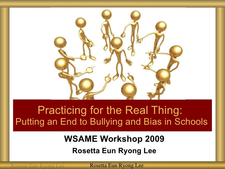 WSAME 5 Hour Bullying and Bias Workshop