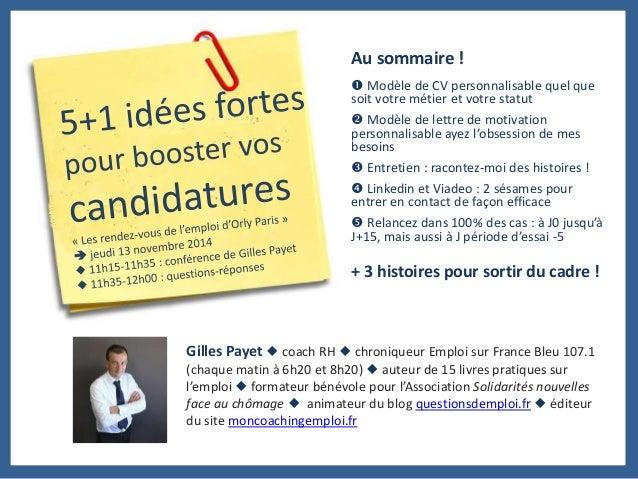 Au sommaire !   Modèle de CV personnalisable quel que  soit votre métier et votre statut   Modèle de lettre de motivatio...