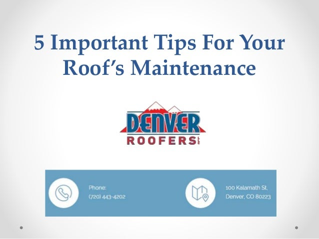 5 important tips for your roof s maintenance - Important tips roof maintenance ...