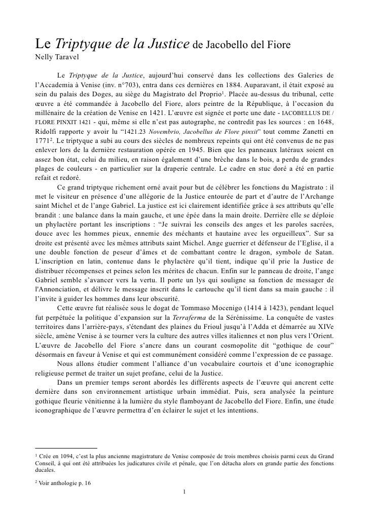 Le Triptyque de la Justice de Jacobello del FioreNelly Taravel         Le Triptyque de la Justice, aujourd'hui conservé da...