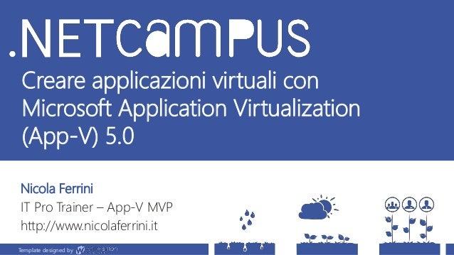 Template designed by Creare applicazioni virtuali con Microsoft Application Virtualization (App-V) 5.0 Nicola Ferrini IT P...