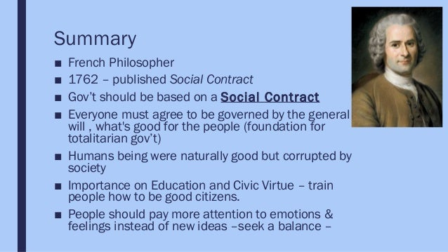 rousseau philosophy summary