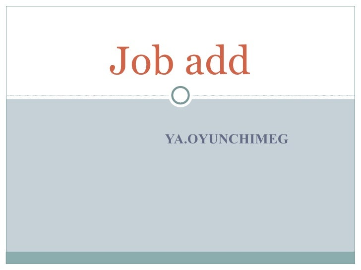 5 Job Ad Oyunchimeg.Ya
