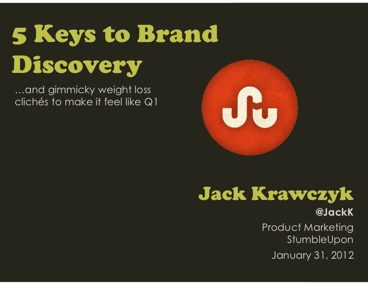 5 Keys to BrandDiscovery…and gimmicky weight lossclichés to make it feel like Q1                                  Jack Kra...
