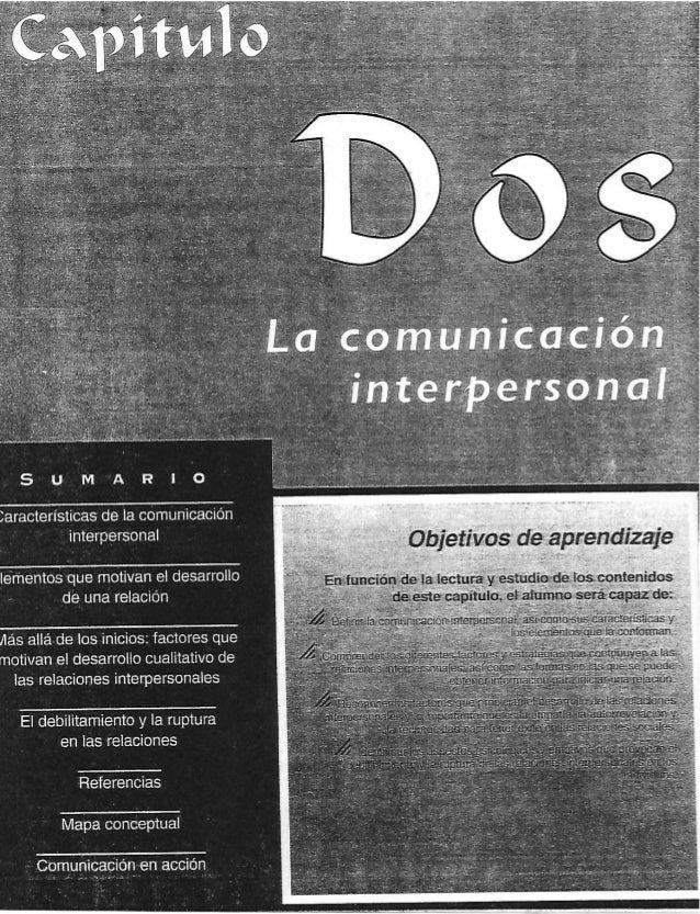 SUMARO     Jaracterísticas de la comunicación interpersonal     lamentos que motivan el desarrollo « de una relación   llá...