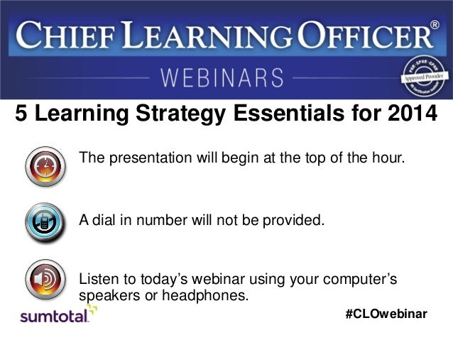 5 Learning Strategy Essentials for 2014