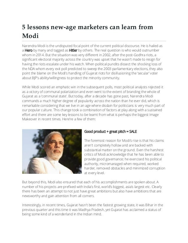 5 lessons new age Marketers can learn from Narendra Modi