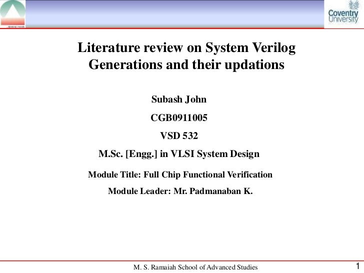 System Verilog 2009 & 2012 enhancements