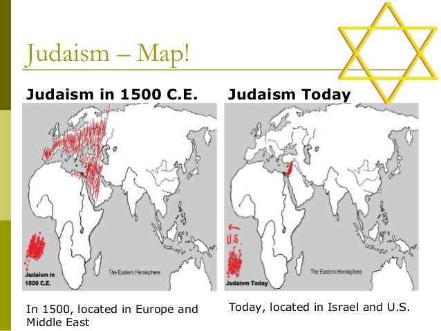 Judaism Religion Map - Religion in the world today