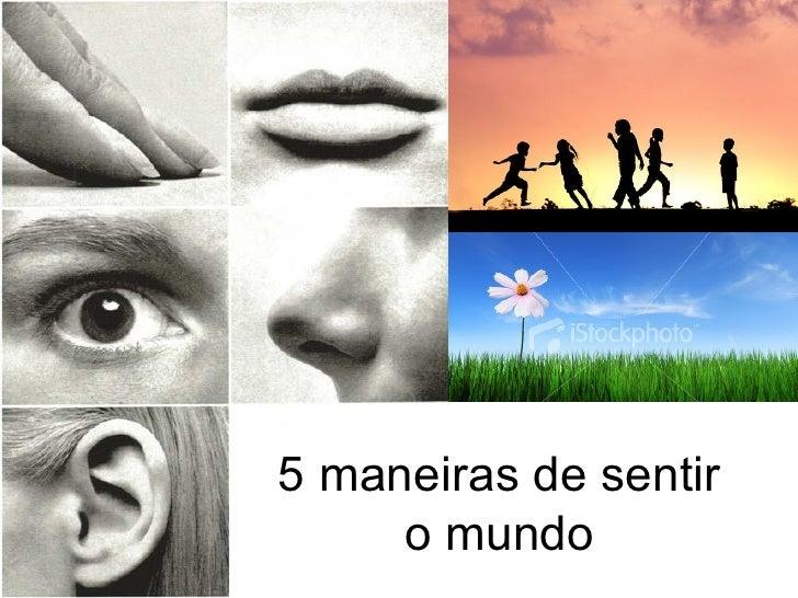 5 maneiras de sentir o mundo