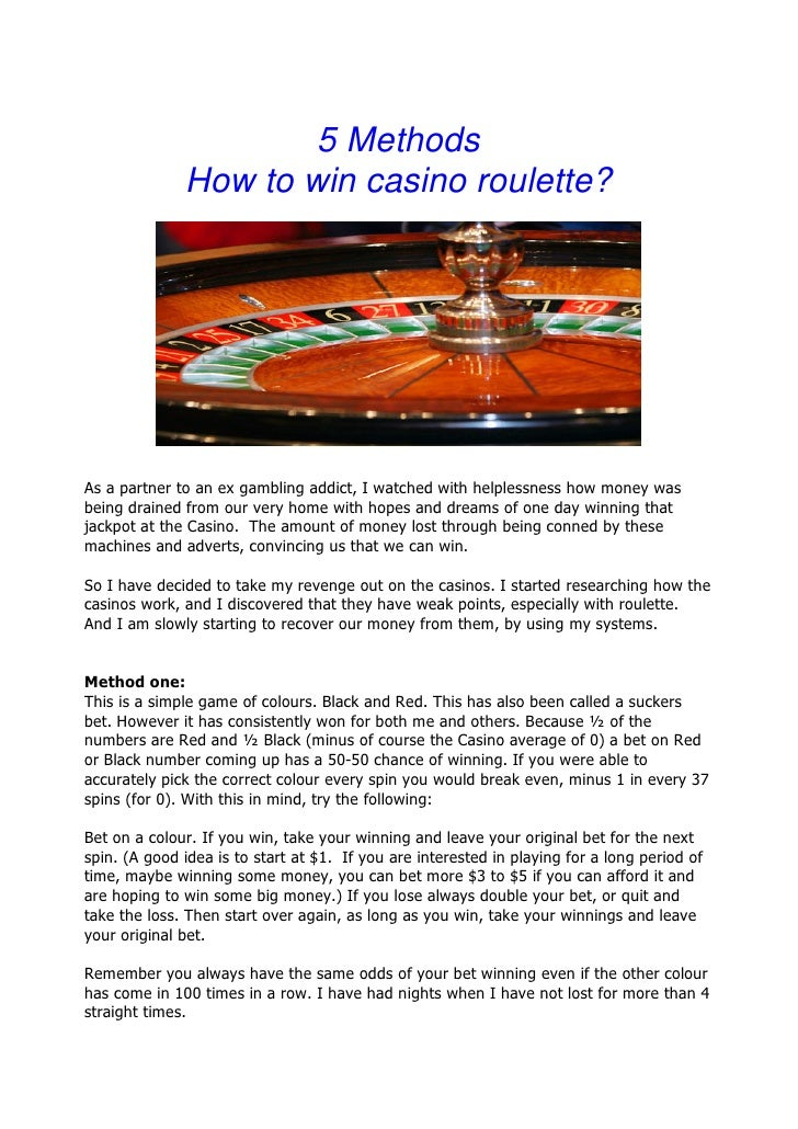 how to win big at roulette