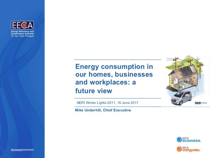 Energy consumption in our homes, businesses and workplaces: a future view   Mike Underhill, Chief Executive NERI Winter Li...