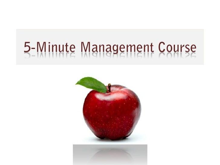 5-Minute Management Course<br />