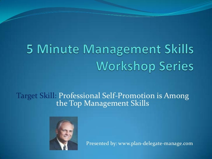 5 minute management skills workshop series ppt