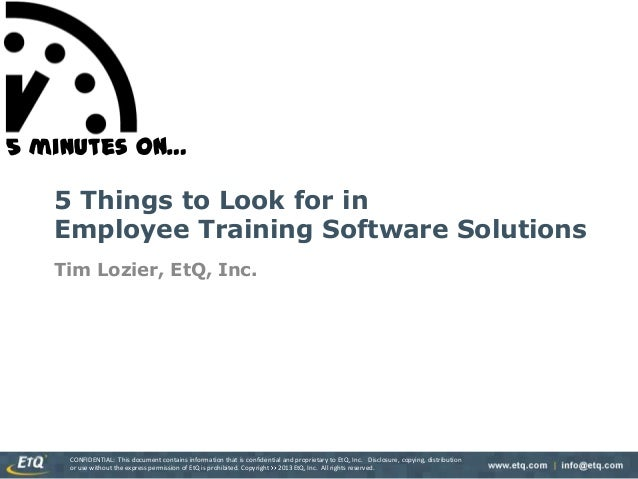 5 Things to Look for in Employee Training Software Solutions