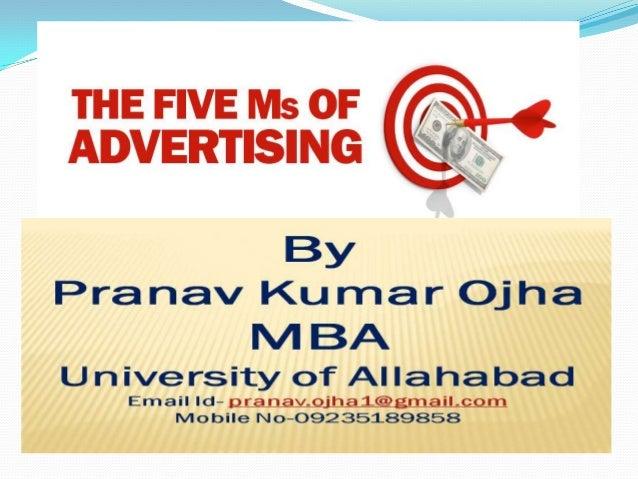 5 m's of advertising