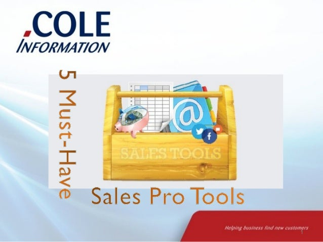 5 Must-Have Sales Pro Tools