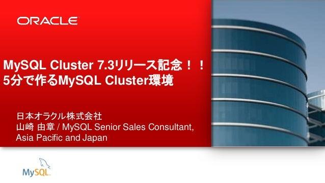 5分で作るMySQL Cluster環境