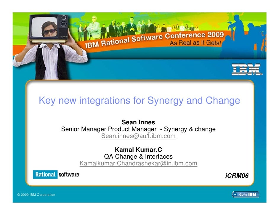 Key new integrations for Synergy and Change                                              Sean Innes                       ...