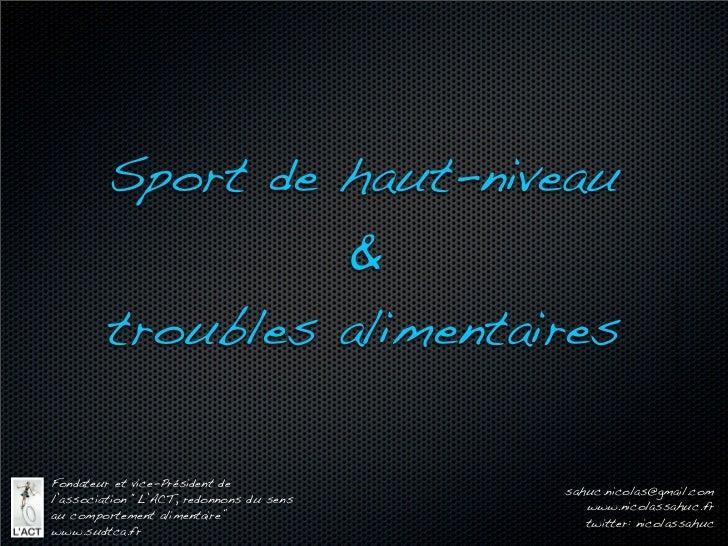 Sport de haut-niveau                                          &                                                           ...