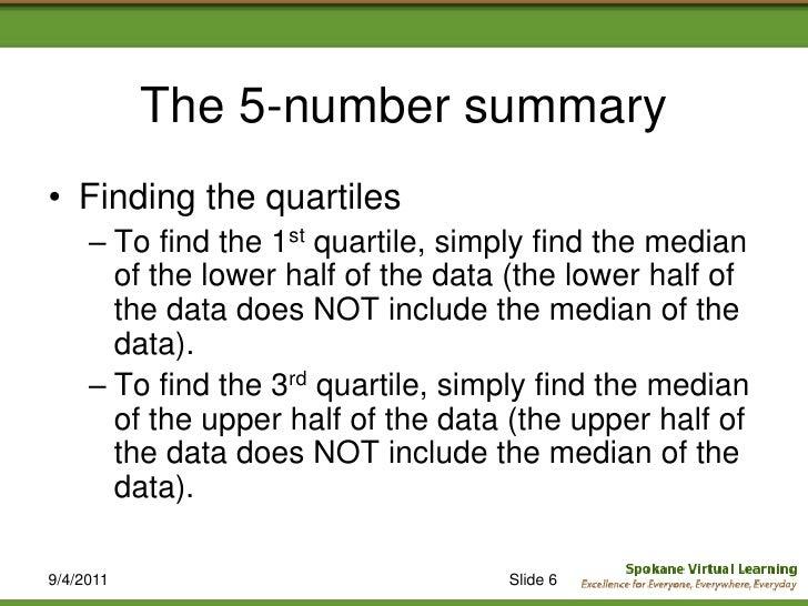 5 Number Summary