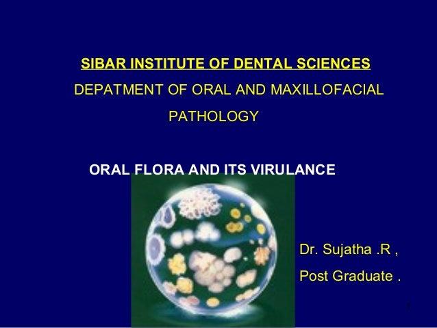 Term discipline Oral flora bacteria this