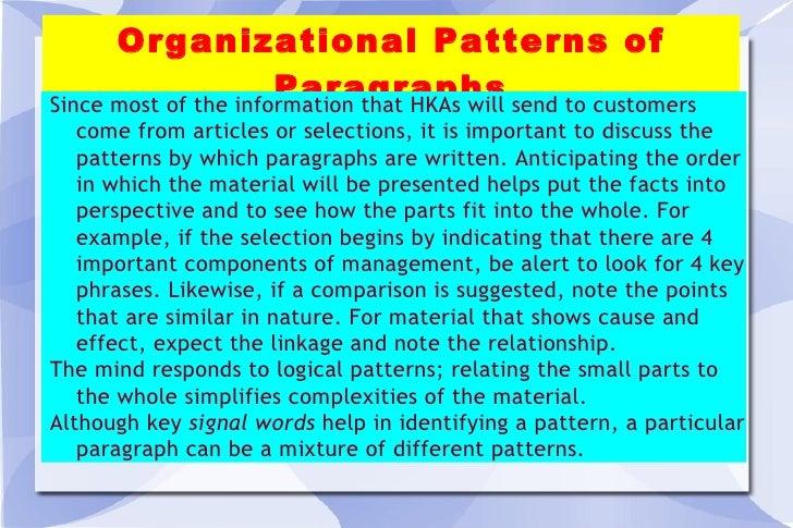 5 Organizational Patterns In Paragraphs