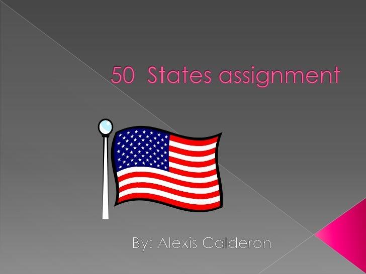 5o states assignment alexis calderon