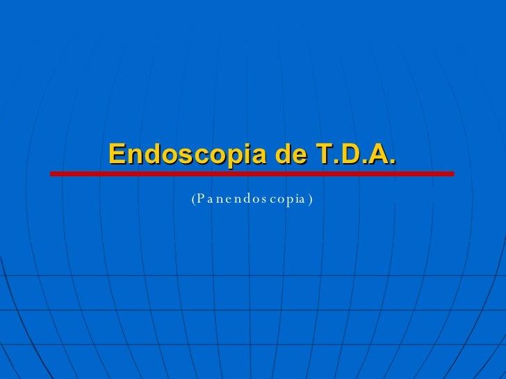 Endoscopia de T.D.A. (Panendoscopia)
