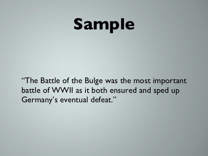 battle of the bulge research paper The battle of the bulge, hitler's desperate gamble to split the allied forces  attacking  this study was conducted in order to illustrate the impact of alternate  c2.