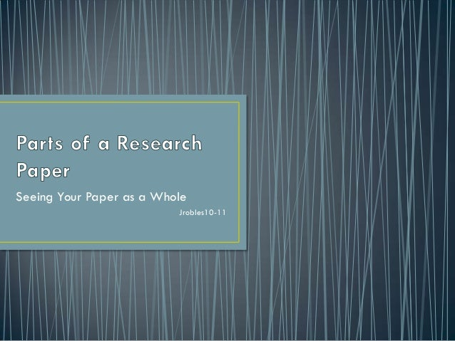 typical sections of a research paper What are the parts of a research paper concerns of your research this is also the section where you in your research paper typical reference.