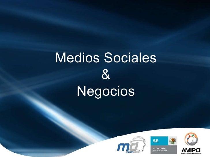 Medios Sociales & Negocios