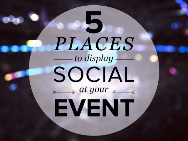 The 5 Places to Display Social Media at Events