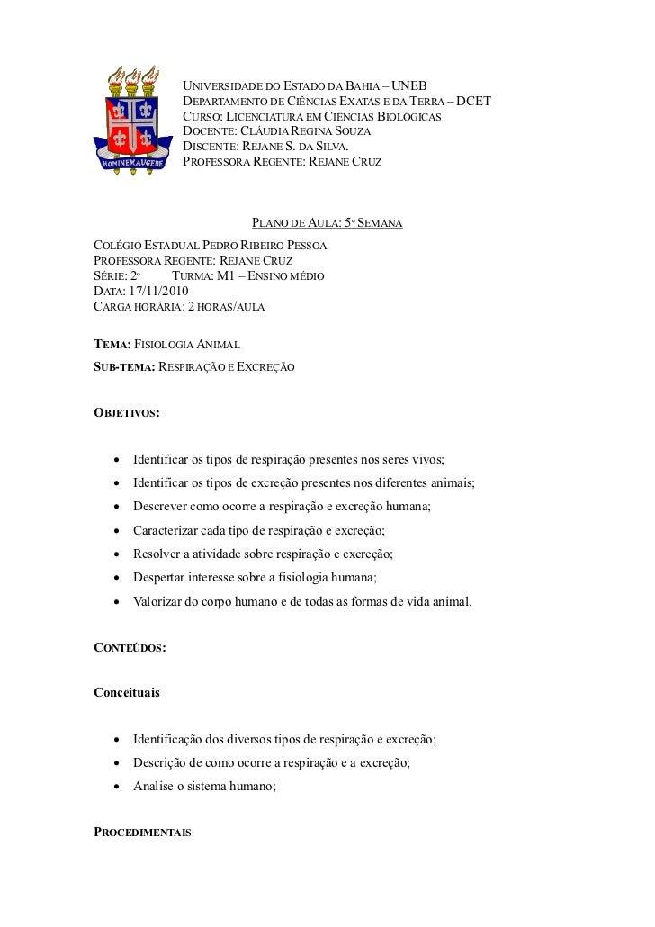 UNIVERSIDADE DO ESTADO DA BAHIA – UNEB                DEPARTAMENTO DE CIÊNCIAS EXATAS E DA TERRA – DCET                CUR...