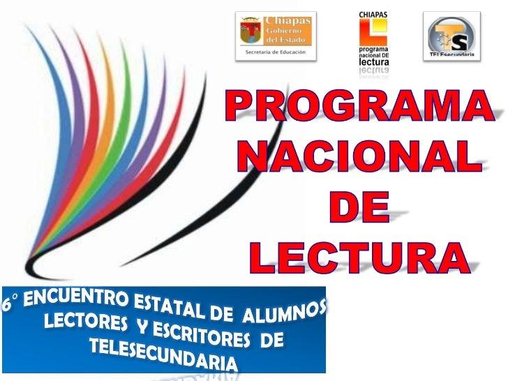 programa nacional de lectura