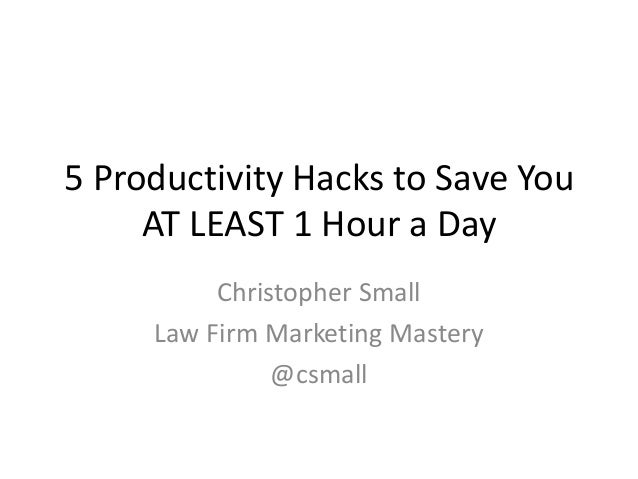 5 productivity hacks to save you at least an hour a day