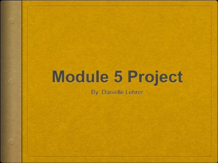 module 5 project