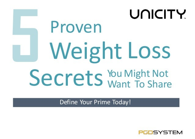 5 Proven Weight Loss Secrets