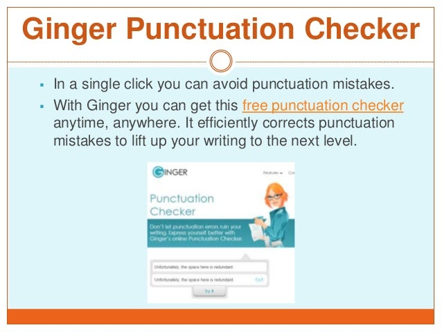 Free punctuation checker online?